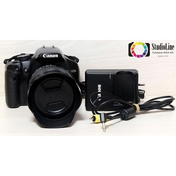 Canon EOS 450D + Sigma 18-250mm F/3.5-6.3 DC OS HSM kit Használt