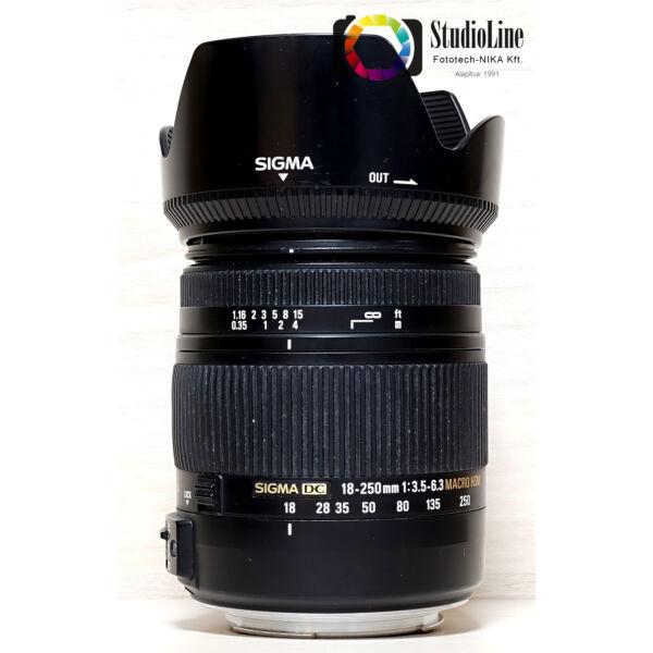 Sigma 18-250mm F/3.5-6.3 DC OS HSM - Canon Használt