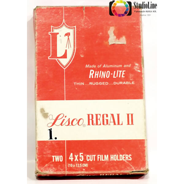 Lisco regal II 4x5 film tartó kazetta Használt