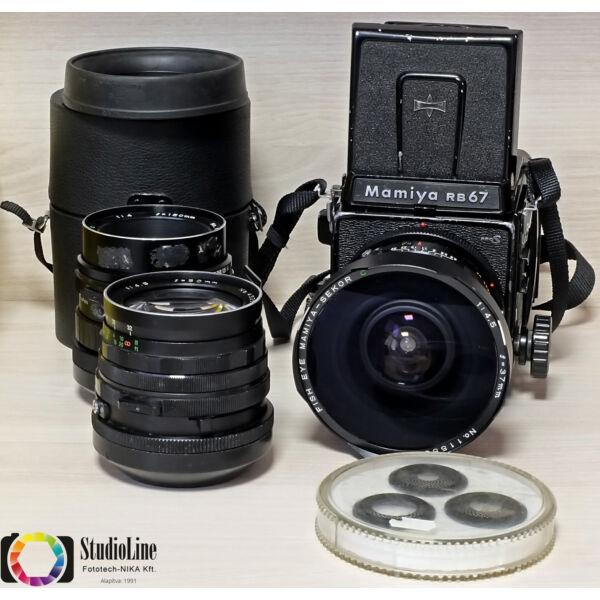 Mamiya RB67 pro S 3db-os szett Használt