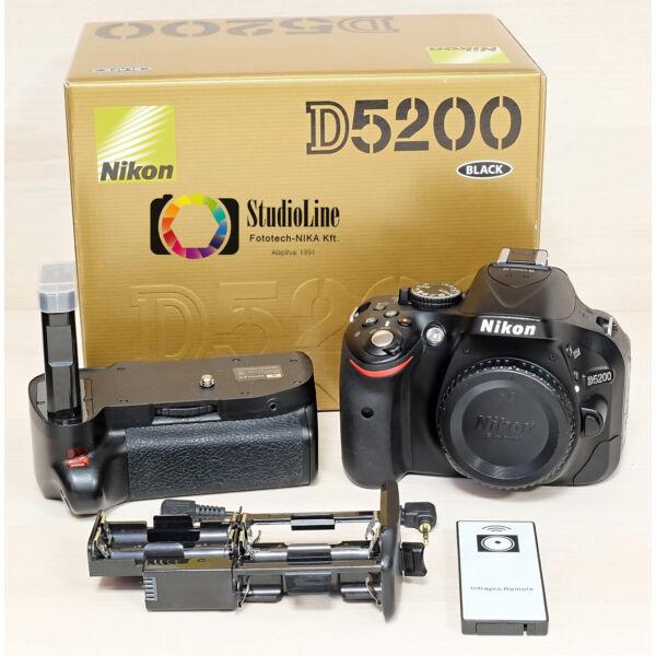 Nikon D5200 váz + markolat Használt