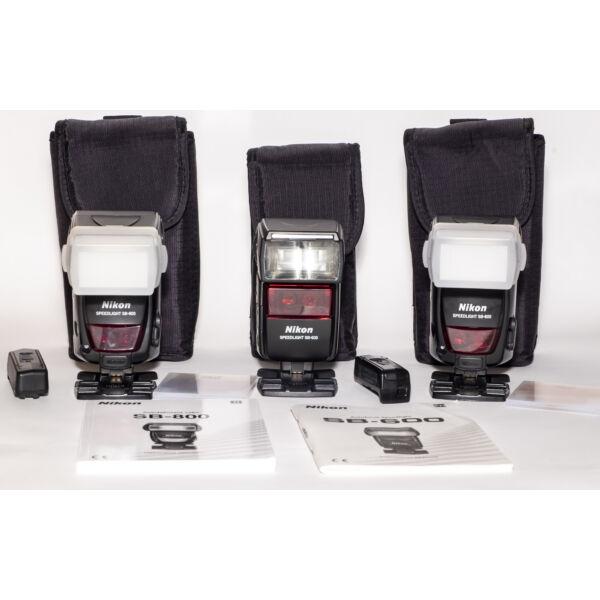 Nikon SB-600 + 2db SB-800 vaku kit Használt