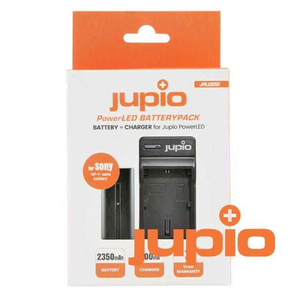 Jupio PowerLED BatteryPack Sony NP-F550 akku+töltő kit