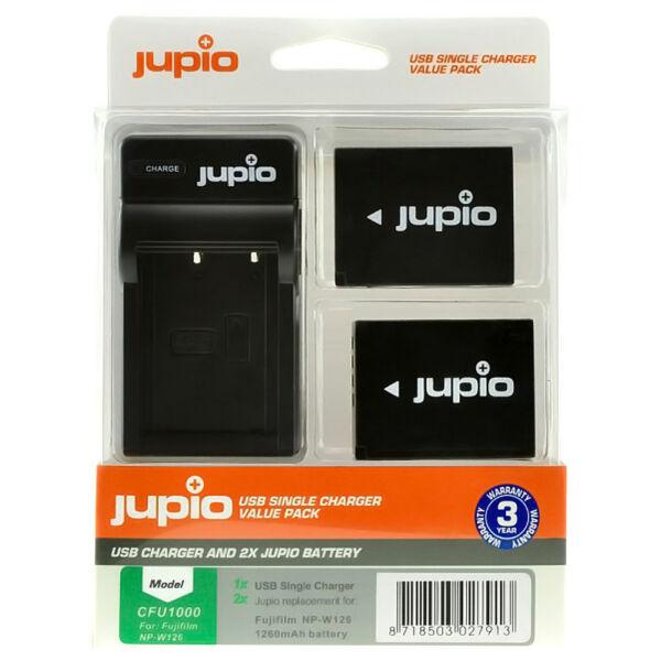 Jupio Fujifilm NP-W126S + USB töltő Kit