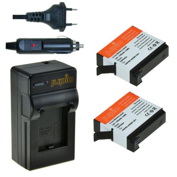 Jupio GoPro Hero 4 akkumulátor + töltő kit