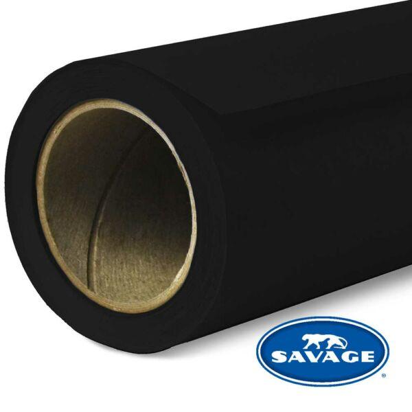 Savage Szuper Fekete színű papírháttér 2.18x11méter