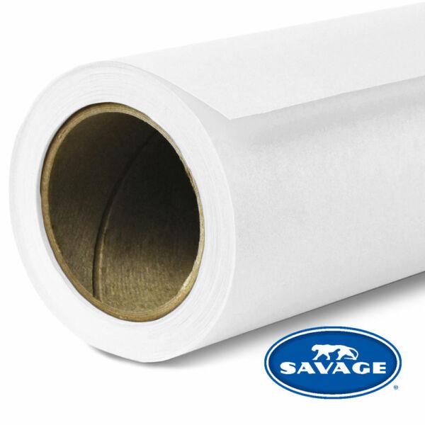 Savage Szuper Fehér színű papírháttér 2.18x11méter