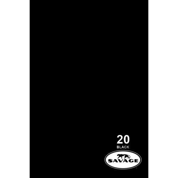 Savage Super Black papírháttér 2.18x11m