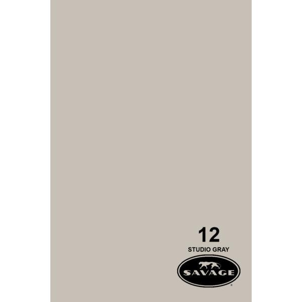 Savage Studio Gray 12 papírháttér 2,72x11m