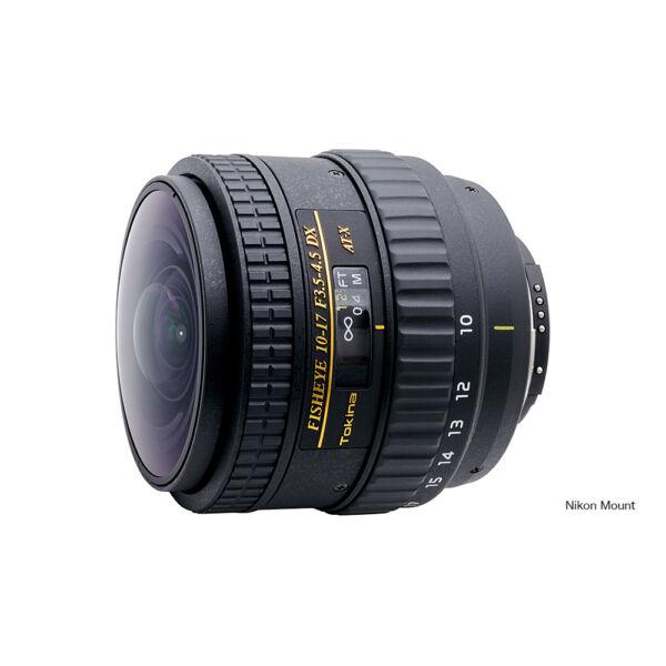 Tokina AT-X 10-17mm F/3.5-5.6 AF DX Fisheye Napellenző nélkül Objektív Nikon